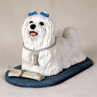 Maltese Dog Statue Figurine Home Decor Yard Garden Dog Products Dog