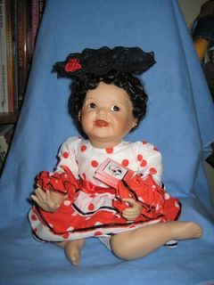 design this ashton drake porcelain doll is rosa she is in excellent