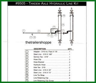 Hydraulic Brake Surge Line Trailer Kit Tandem Axle Drum Disc