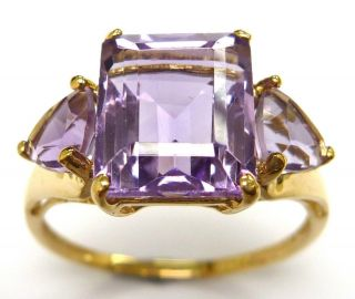 4 50ctw Amethyst Ring Solid Yellow Gold