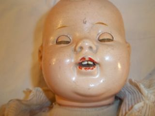 Antique Doll Composition Head Limbs Eyes Open Close Teeth