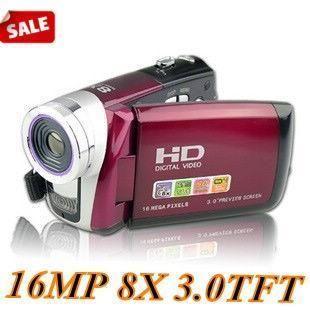 Wonderful 16 MP HD Digital Video Camcorder Camera DV 3 0 TFT C5 Red