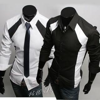 New Mens Casual Luxury Stylish Dress Slim Shirts ST36