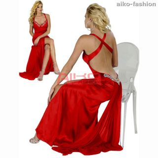 Hot Sexy Beaded Evening Gown Formal Dresses AU 6 22