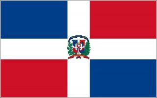 Dominican Republic Flag T Shirt 8 Sizes 3 Colors