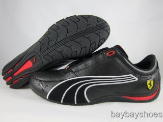 Puma Drift Cat 4 SF Carbon Black Rosso Corsa Red White Ferrari Mens