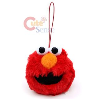 Sesame Street Elmo Face Plush Doll Hanging Plush Key Chain Holder