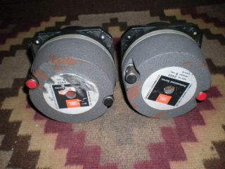 JBL 2402 Tweeters Drivers Pair Vintage Audio Theatre Studio