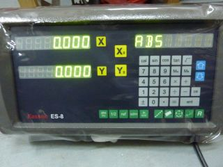TDS Easson ES8 DRO Digital Readout 2 Precision Glass Scale for Mill