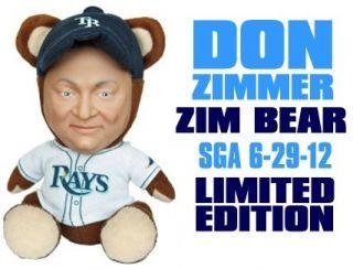 DON ZIMMER ZIM BEAR TAMPA BAY RAYS PRE SALE SGA 6 29 12 BRAND NEW