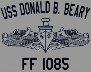 USN US Navy USS Donald B Beary FF 1085 Frigate T Shirt