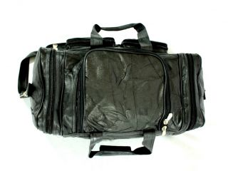 Buffalo Leather Duffel Bag Black Italian Leather Tote Bag with