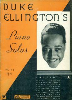 Duke Ellingtons Piano Solos Songbook Mood Indigo 9 Others
