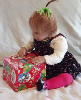 reborn baby/ toddler baby girl by Donna RuBert. Cute Christmas pics