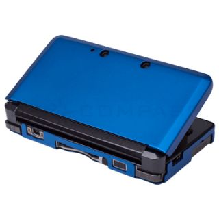 Dark Blue Aluminium Hard Shell Case Skin Cover For Nintendo 3DS XL LL