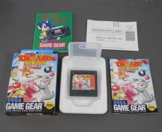 TOM & JERRY THE MOVIE Game Cartridge (Sega Game Gear) Complete in Box