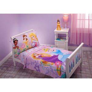 Disney Princess Toddler Bedding Set 4 Piece Princess Dreams Bloom