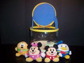 Baby Basketball Stuffed Toy Set Mickey Minnie Donald Pluto