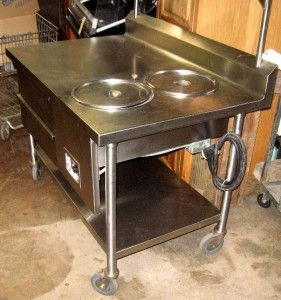 Stainless Steel Heated Donut Finishing Glazing Table