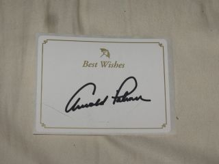 Arnold Palmer Authentic Hand Signed Bookplate Golf HOF Autograph Auto