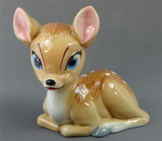 BLOW UP FIGURINE WADE ENGLAND BAMBI FAWN DEER DISNEY RETIRED 1965