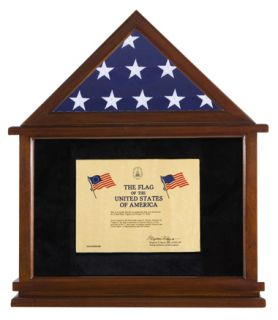 USA America Flag Certificate Display Case Shadow Box High Quality New