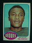 1976 Topps Football Paul Warfield Cleveland Browns 317