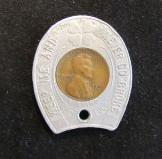 Lincoln Wheat Encased Cent Penny Duquesne Pilsener Pittsburgh PA