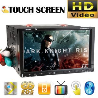 Double 2 DIN 7 Car DVD Player Stereo iPod  4 Radio USB SD BT