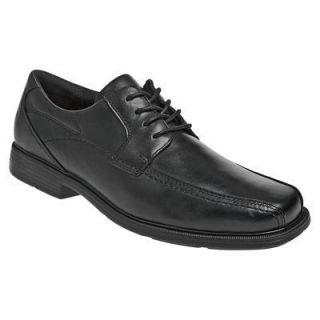 Dunham Mens Douglas Lace Up Oxford Dress Shoes Black Leather DAB02BK