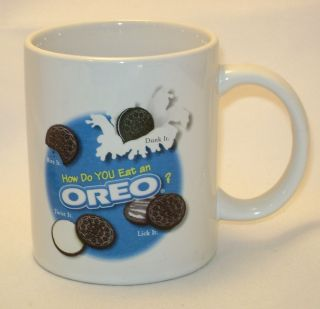 How Do You Eat an Oreo Coffee Mug Cup Bite Dunk Twist Lick It Nabisco