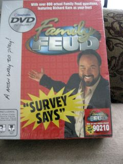 Family Feud DVD Game   Richard Karn   New/Sealed