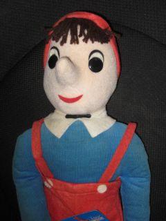 Vintage Pinocchio Felt Douglas Cuddle Toy N H Orig Tag