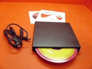 EXTERNAL COMBO DRIVE DVD PLAYER CD BURNER USB POWERED NO POWER SUPPLY