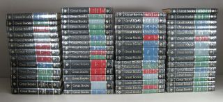 Near Complete Set 60 Vol Britannica Great Books Series Most Shrinked