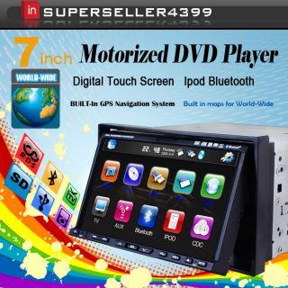 Double DIN Radio Car Deck DVD Player 3D Pip GPS Navi