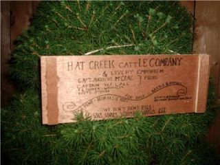 Lonesome Dove Sign Hat Creek Mini Ornament Western Sign