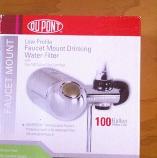 DUPONT LOW PROFILE FAUCET MOUNT DRINKING WATER FILTER 100 GALLON