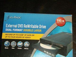 16x Dual Format Double Layer External USB DVD Rewritable Drive