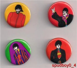 Beatles Yellow Submarine Pins 1968 Import Primrose Paul McCartney John