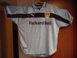 Puma Light Blue Football Soccer Jersey Packard Bell Used Lufc Adult XL