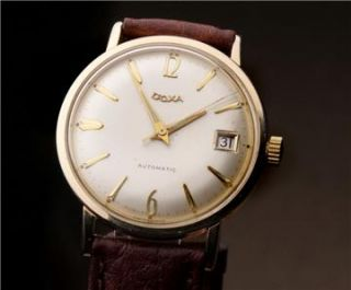 VINTAGE DOXA S.A. AUTOMATIC GOLD PLATED SWISS MADE WATCH VERY GOOD