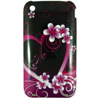 For iPhone 3 and 3GS Flower Heart designer cell phone case cover