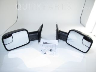 Dodge RAM Power Trailer Tow Towing Mirrors 1500 2500 3500 Mopar