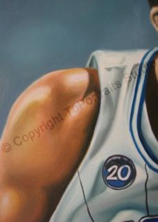 Dwight Howard Orlando Magic   Original Basketball NBA Oil Painting on