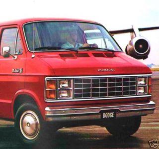 1983 Dodge RAM Van Brochure B150 B250 B350 Maxivan