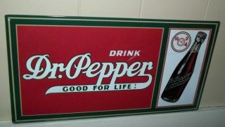 Drink Dr Pepper Metal Tin Sign 8 1 2 x 16