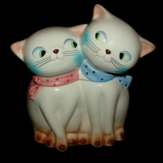 Vintage Holt Howard Cozy Kitten Cookie Jar Cat Condiment Pixie
