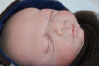 Baby Boy Noah Rosebud sculpt by Cindy Musgrove~Emerald Hill Nursery