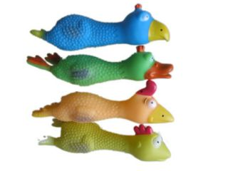 Pet Dog Cat Chew Squeaky Rubber Duck Chicken Toys
